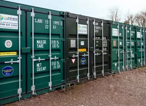 Adjacent green containers